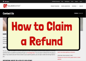 How to claim a refund on ClickBank in 5 easy steps