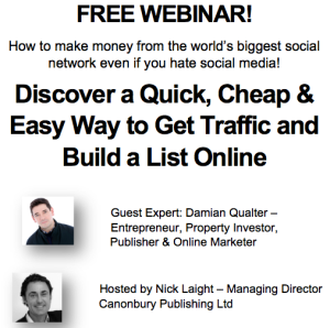 Don't miss this Free Facebook Webinar