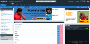 Profit from tennis players' troubles