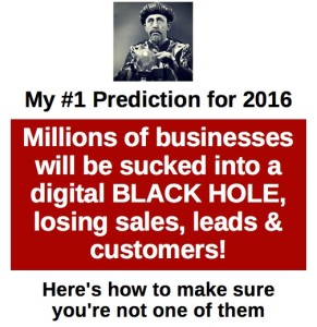 I predict millions will be sucked into a black hole in 2016?