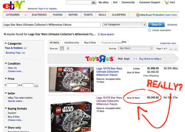 Don't sell on eBay